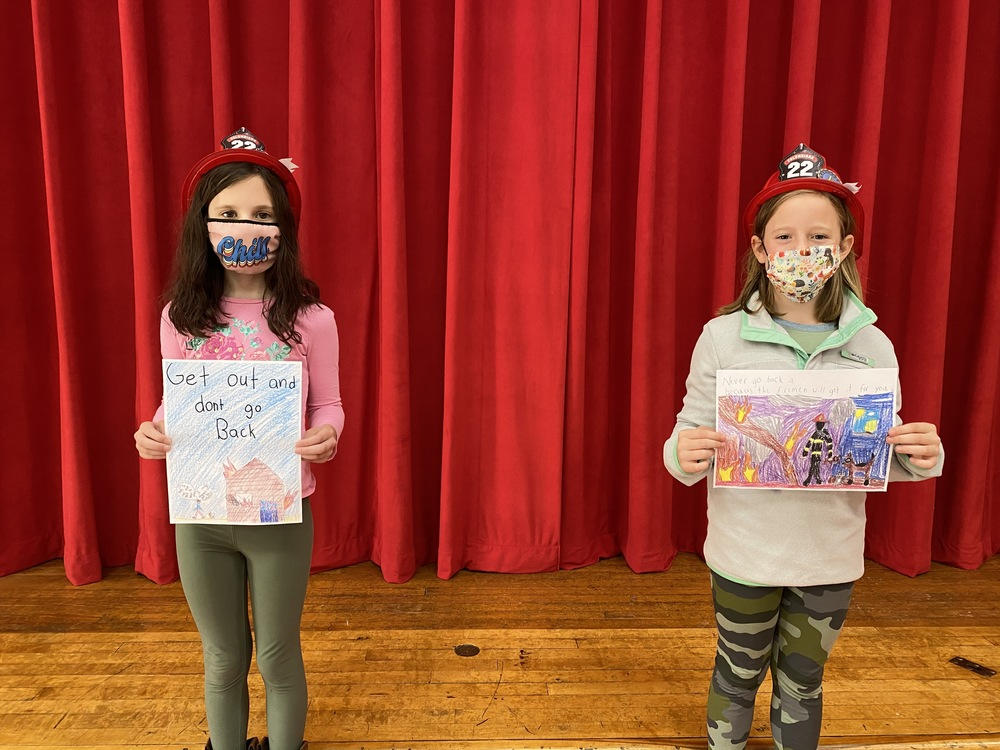 Two Students Named  State Winners in  Fire Safety Poster Contest