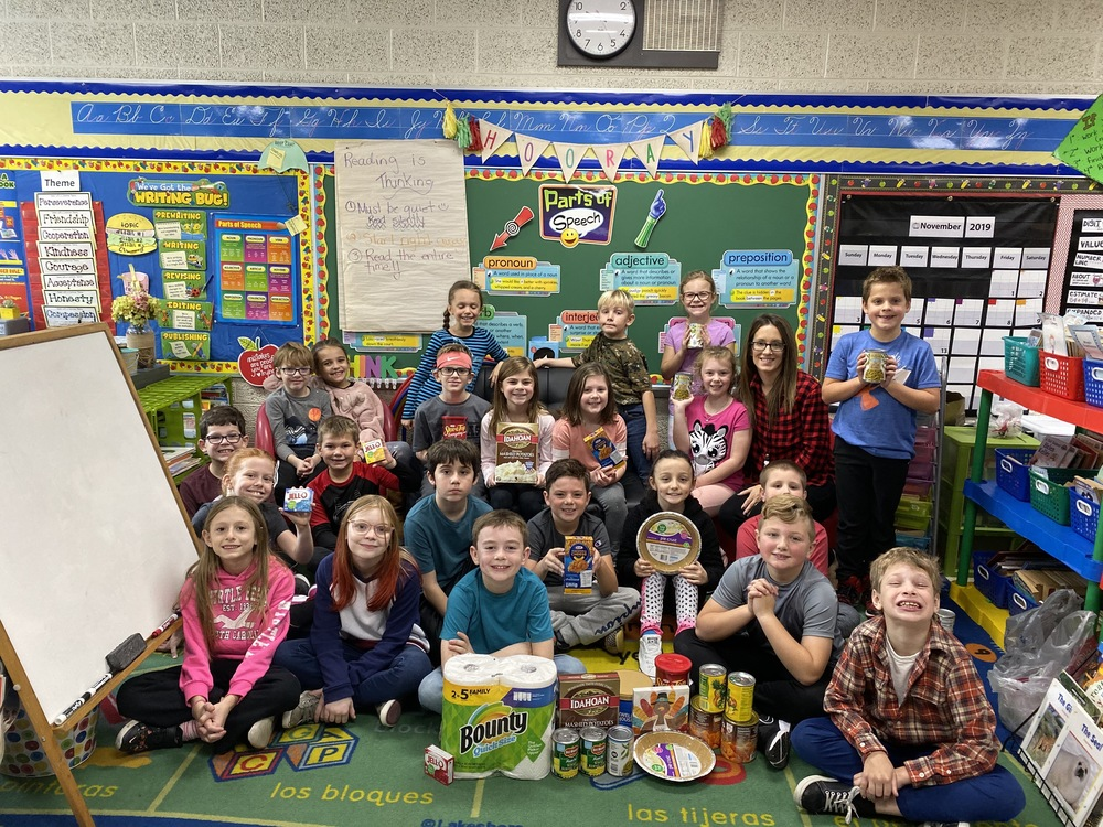 Third Grade Class Adopts a Family for Holidays
