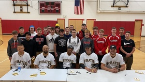 Baseball and Softball Players Meet With Some of the Pittsburgh Pirates