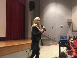 Catherine Bosley Shares Powerful Message With Students