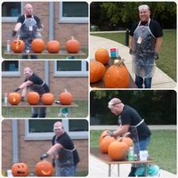 Mr. Sims' way of Pumpkin Carving
