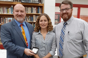 Mrs. Zelonish Awarded Key Clipper Award