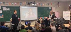 6th Grade Students Talk with Author