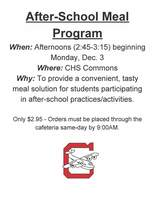 After-School Meal Program
