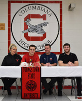 Chase Franken signs at YSU
