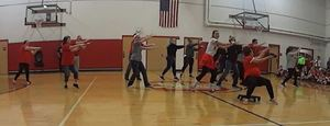 CMS Staff Shows off Moves at Fall Pep Assembly