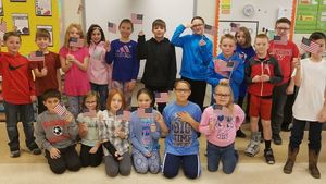4th Graders learn about the Flag