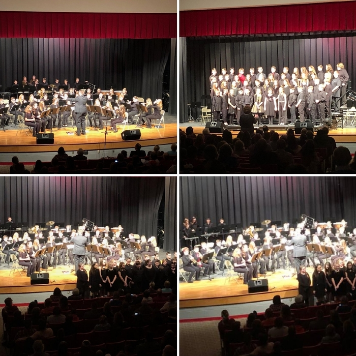 5th and 6th grade winter 2018 band/choir concert