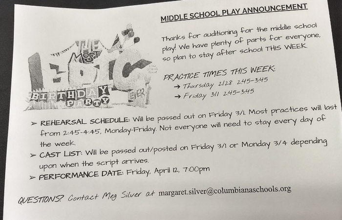CMS play announcement