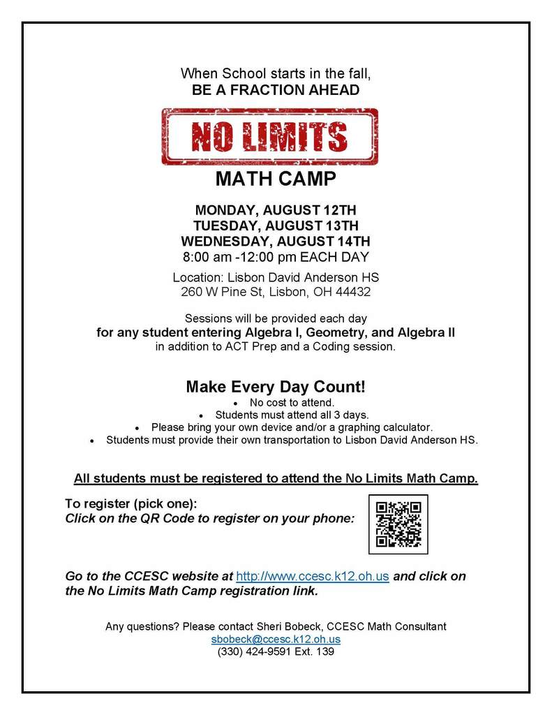 No Limits Math Camp
