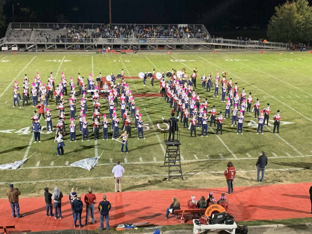 Clipper and Eagle bands perform at halftime.